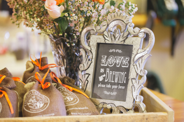 Coffee themed styled shoot for industrial hipster weddings