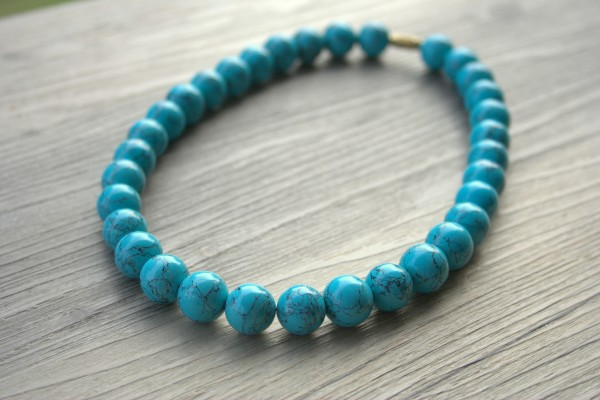 Refurbished vintage turquoise necklace by J'Adorn Designs
