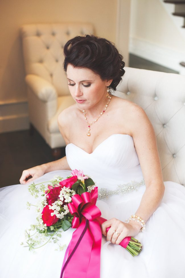 Pink purple luxe wedding jewelry, gold and pink bridal jewelry, custom wedding jewelry by J'Adorn Designs bridal accessories