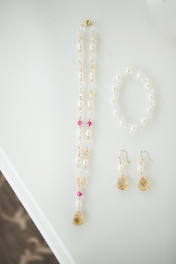 Gold Pink Purple Luxury Wedding and Bridal Jewelry