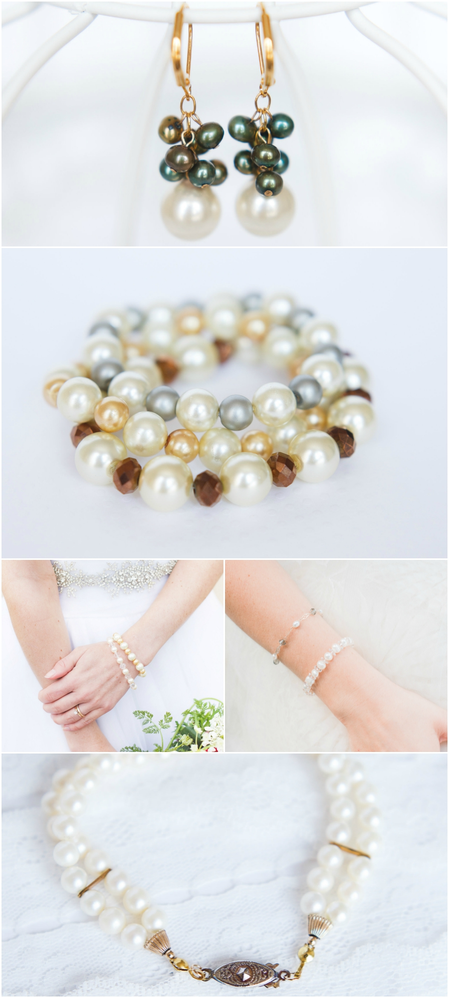 All about pearls - synthetic, cultured, and everything in between! via J'Adorn Designs Couture Jewelry