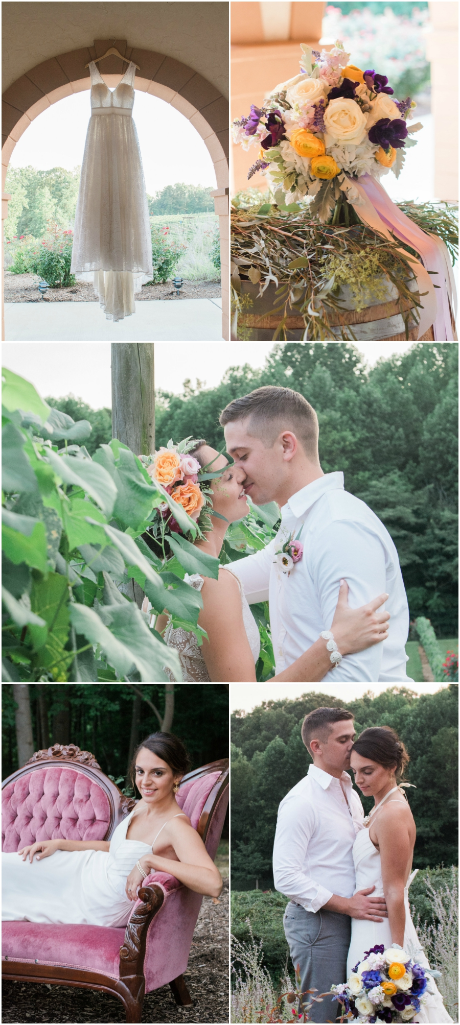 Romantic Autumn Maryland Winery Wedding
