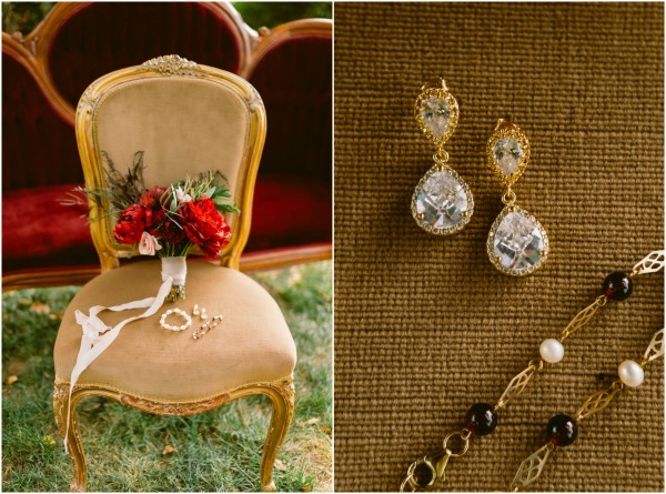 Love Is Gold Romantic Maryland Garden Wedding Styled Shoot with Couture Jewelry by J'Adorn Designs