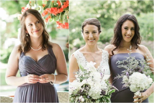 Philadelphia mainline garden wedding monique lhullier bridesmaid dress elegant bride grey bridesmaid dress european french wedding silver pearl druzy white custom couture bridal jewelry samantha jay photography morris arboretum DC bride J'Adorn Designs jewelry designer jeweler