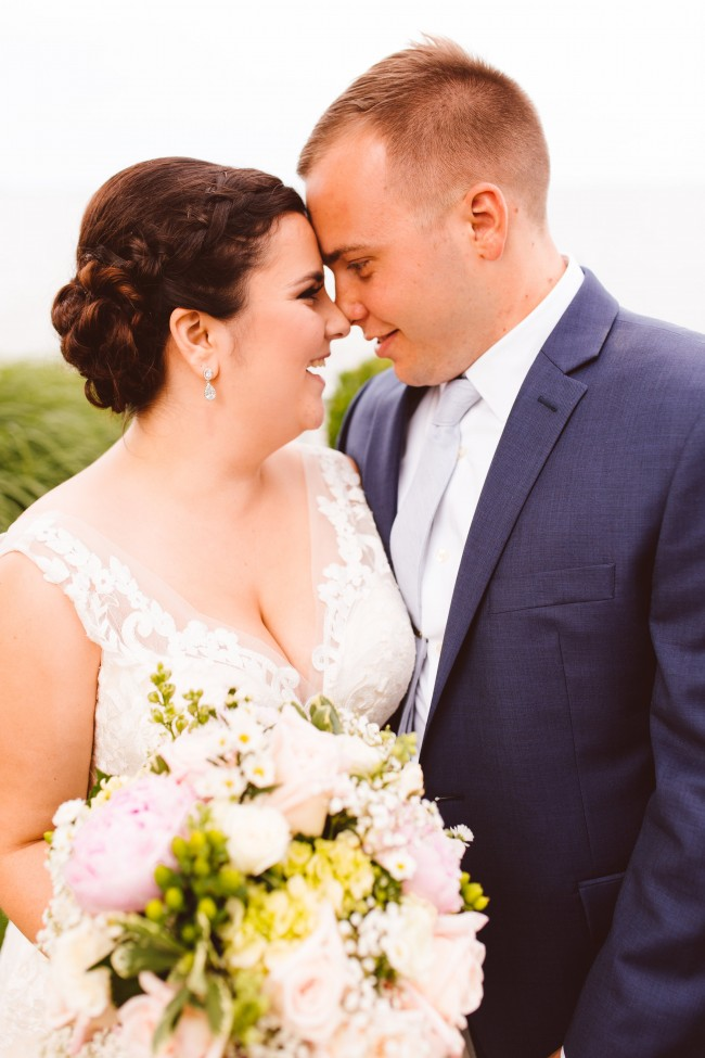 Romantic Eastern shore Maryland bayside wedding Custom and couture bridal jewelry Brooke Michelle Photography Celebrations by the Bay J'Adorn Designs Emerald cut engagement diamond ring Halo wedding ring Bridal fashion Bridal couture