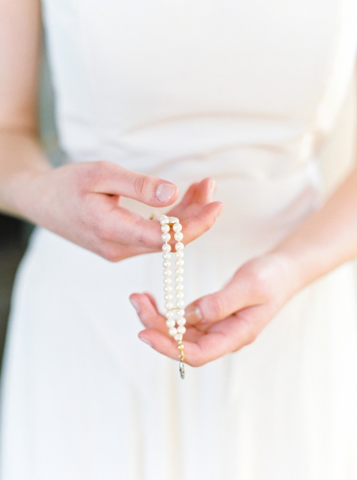 Heirloom wedding jewelry, vintage pearl bracelet by J'Adorn Designs custom bridal accessories