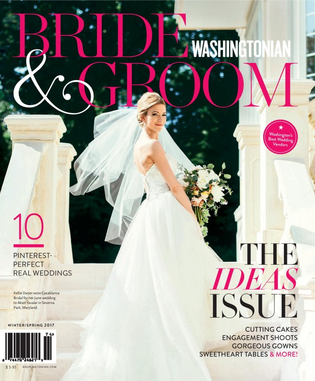 Modern Garden Wedding Style Inspiration in Washingtonian B&G with J'Adorn Designs Bridal Teardrop Earrings