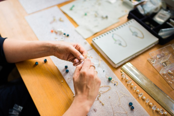 J'Adorn Designs behind the scenes custom jewelry studio, photo by Madison Short