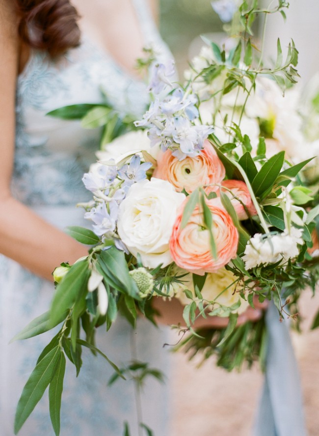 Pantone Greenery Bouquet Wedding Inspiration by J'Adorn Designs custom jewelry