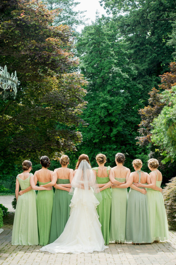 Pantone Greenery Bridesmaid Dress Wedding Inspiration by J'Adorn Designs custom jewelry