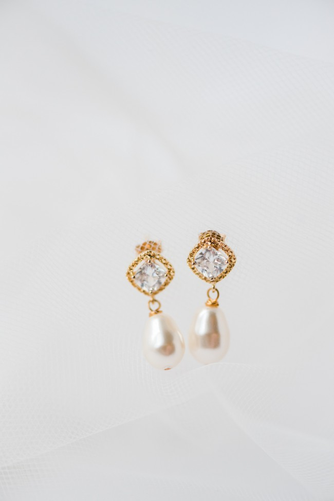 cushion-cut-halo-teardrop-earrings-modern-bridal-accessories-classic-earrings-J'Adorn-Designs