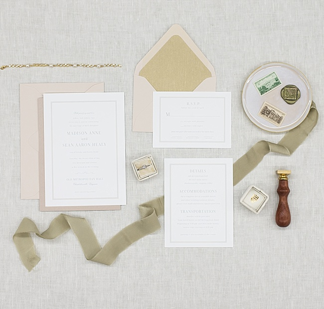 Classic-wedding-stationery-with-elegant-bridal-jewelry-by-Third-Clover-Paper-and-J'Adorn-Designs