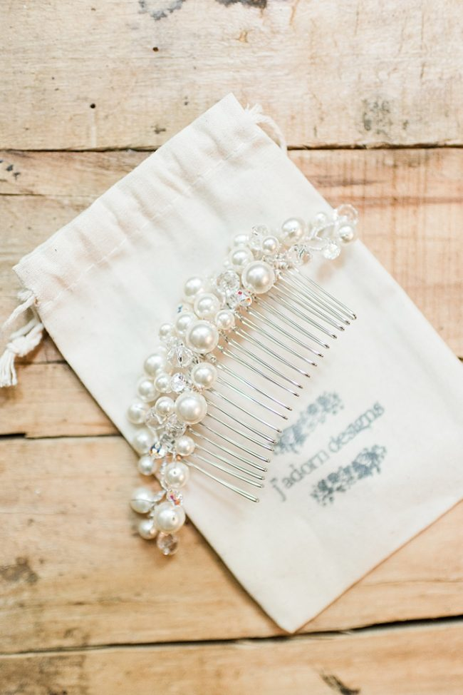 Crystal & Pearl Bridal Hairpiece Custom Bridal Comb by Baltimore Custom Jeweler J'Adorn Designs