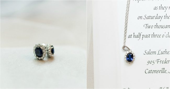 Custom Sapphire Oval Halo Earrings and Necklace Jewelry Set by Baltimore Custom Jeweler J'Adorn Designs