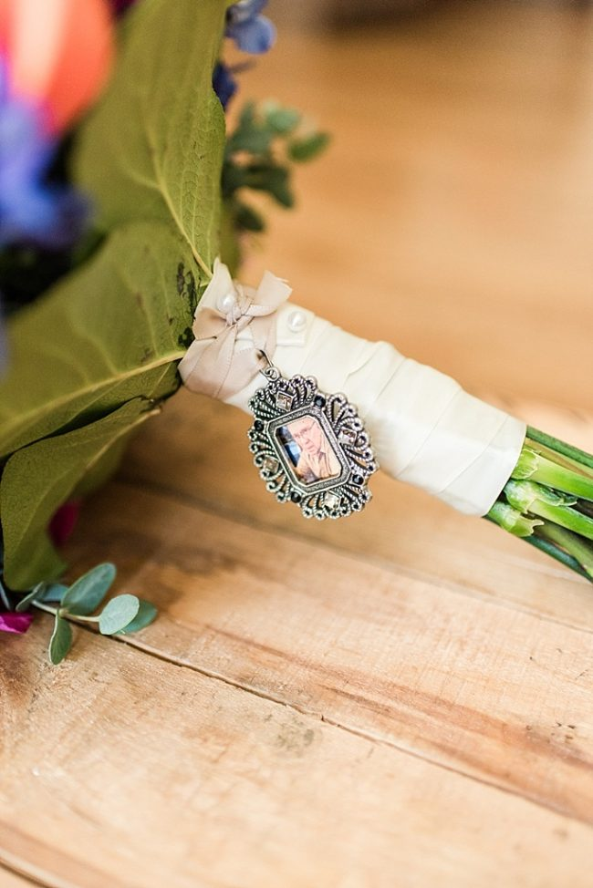 Memorial pendant for bridal bouquet, framed photo pendant, wedding memorial bouquet charm by J'Adorn Designs custom jeweler