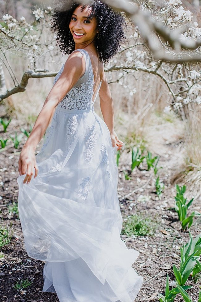 Designer jewelry and bridal hair vine for a spring wedding in Baltimore, cherry blossoms wedding inspiration, custom bridal accessories by J'Adorn Designs custom jeweler in Maryland