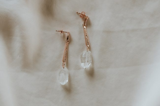 custom original rose gold deco raw crystal inspiration earrings jadorn designs custom jewelry