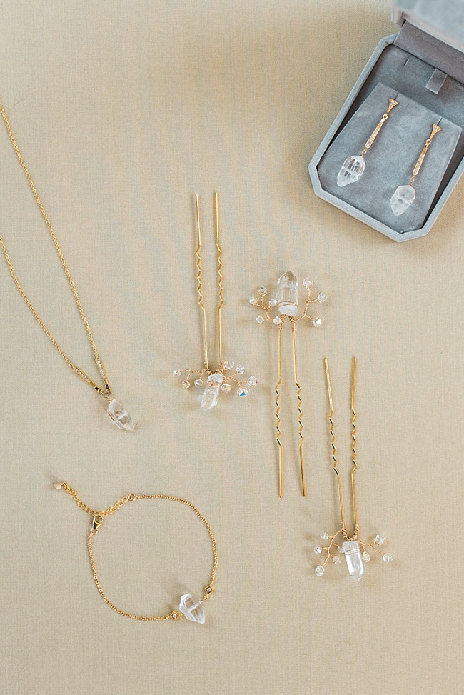 custom vintage inspired yellow gold bridal full jewelry set with raw crystal jadorn designs custom jewelry