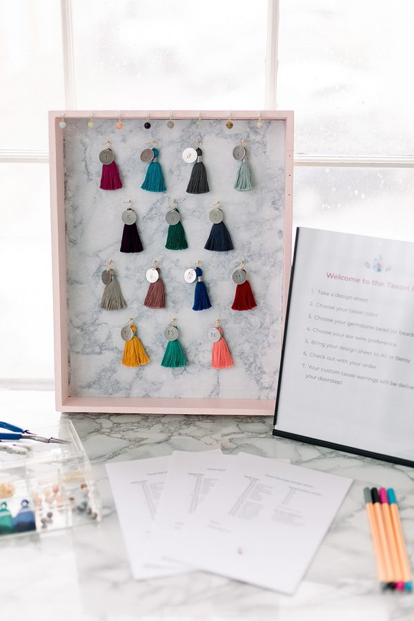 Craft show in Catonsville Maryland welcomes custom jewelry artisan J'Adorn Designs with spring accessories and design-your-own tassel earrings at the Tassel Bar