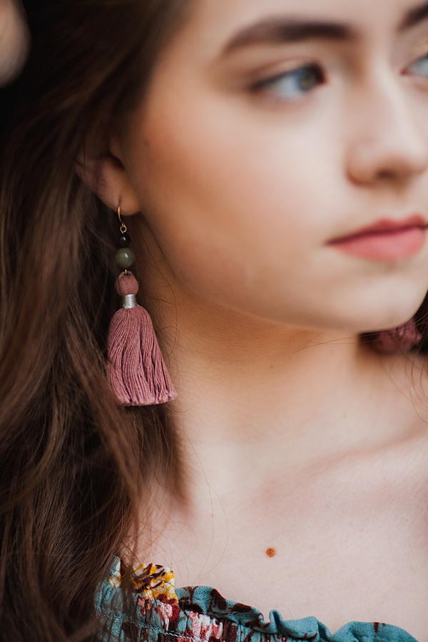 Graduation gift ideas, jewelry for the graduate, tassel earrings by J'Adorn Designs handcrafted jewelry