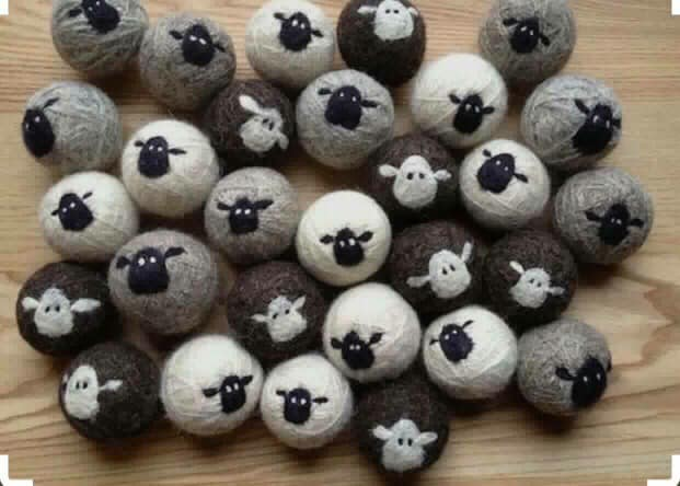 Cotton & Co felted dryer balls
