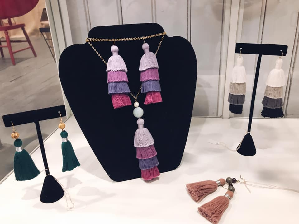 Cotton & Co jewelry display of J'Adorn Designs custom jewelry