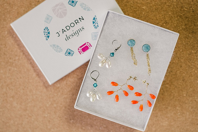 Coral branch earrings with gold posts for stretched earlobes or sensitive ears; handcrafted beachy jewelry by J'Adorn Designs in Rehoboth Beach Delaware
