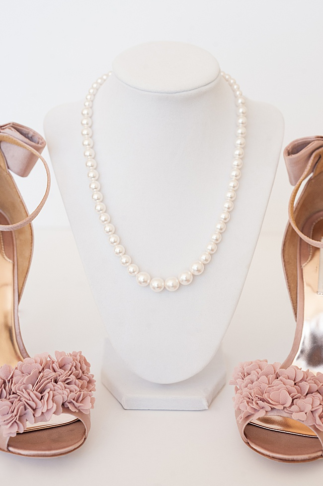 Classic strand of pearls necklace made with Swarovski crystals, affordable wedding jewelry pearl necklace, made by J'Adorn Designs in USA by jewelry artisan Alison Jefferies