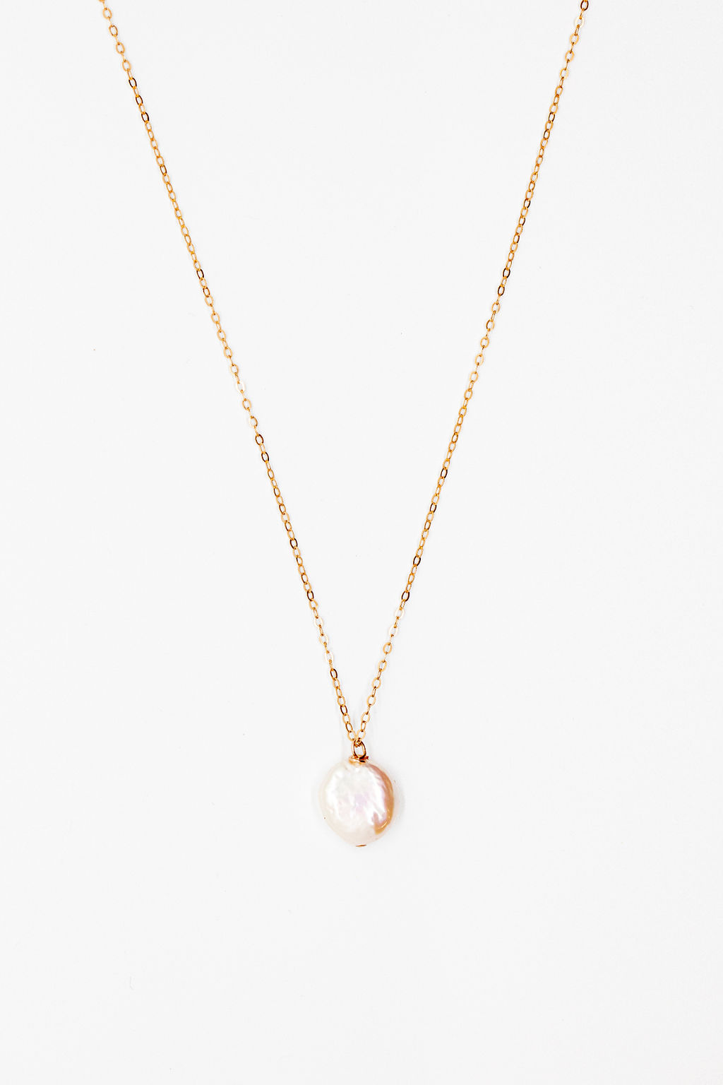 freshwater coin pearl necklace in rose gold jadorn designs custom jewelry