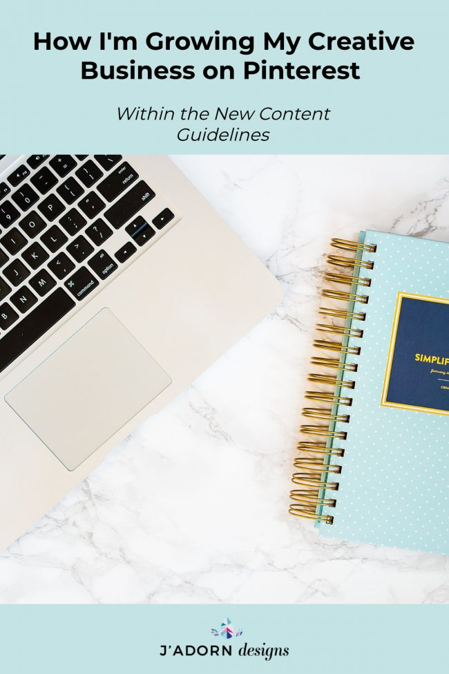 Creative business social media tips - how I use Tailwind for Pinterest to keep growing my jewelry business within the new content guidelines - J'Adorn Designs