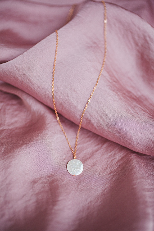 Freshwater pearl pendant necklace in rose gold, spring jewelry and unique graduation gifts for high school seniors by j'adorn designs artisan jewelry